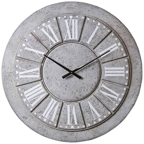 "Cooper Classics Samuel 39 1/2"" Round Metal Wall Clock"
