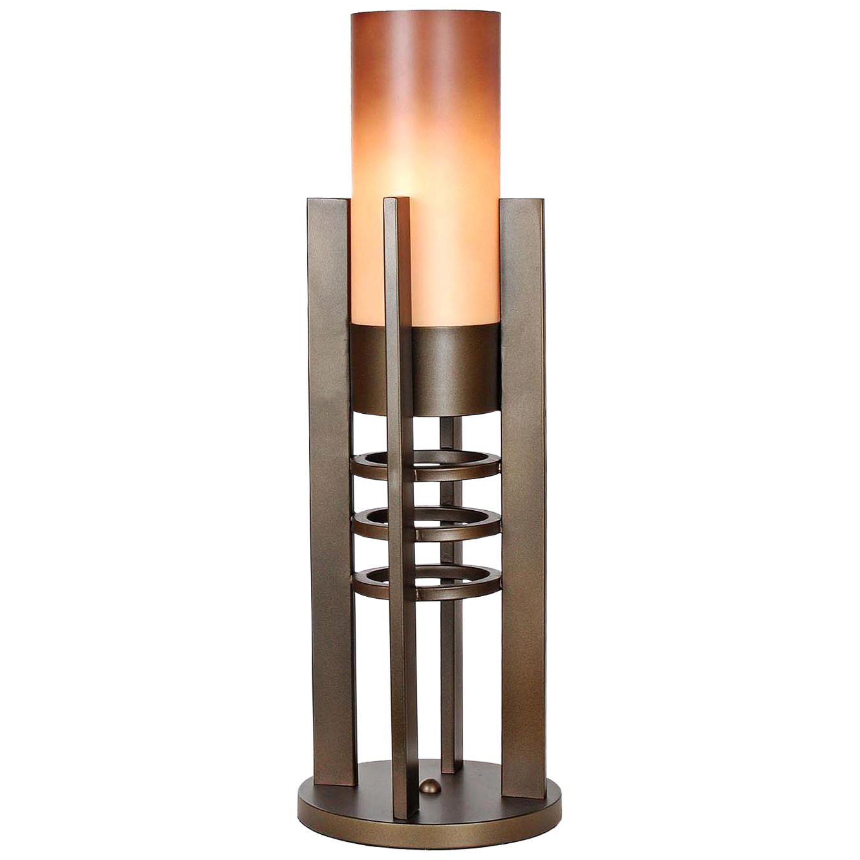 Van Teal Metropolis Caramel Plaza Uplight Table Lamp