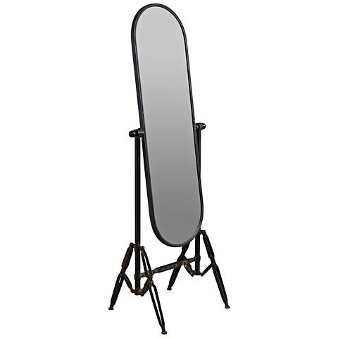 "Cooper Classics Langton Black 26"" x 71"" Oval Floor Mirror"