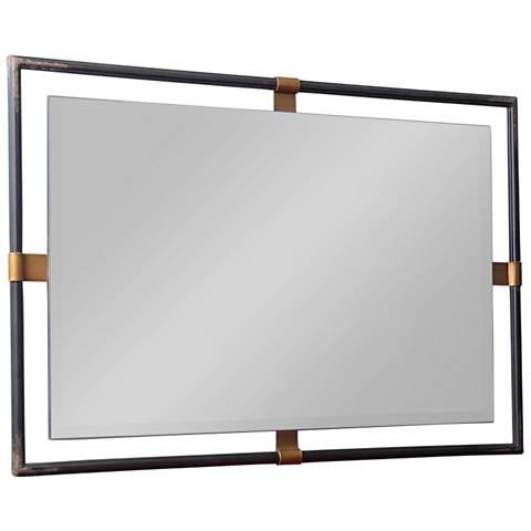 "Cooper Classics Murphy Black 36"" x 24"" Wall Mirror"