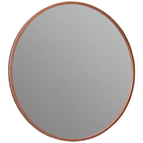 "Cooper Classics Wilson Rose Gold 28"" Round Wall Mirror"