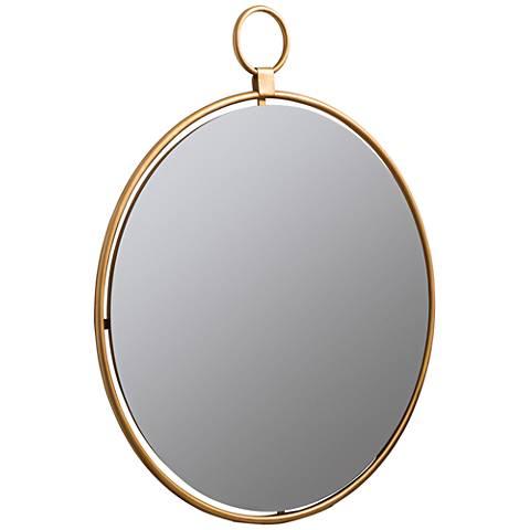 "Wright Bronzed Golden 25 1/2"" x 30 1/2"" Wall Mirror"