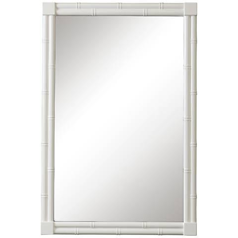 "Cooper Classics Margaret Glossy White 24"" x 36"" Wall Mirror"
