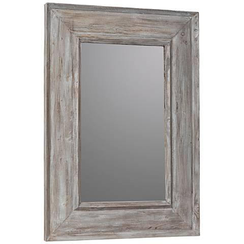 """Cooper Classics Kirk Distressed Wooden 28"""" x 39"""" Wall Mirror"""