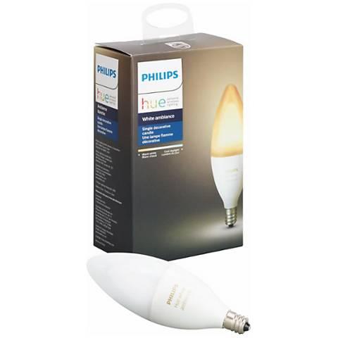 40W Equivalent Philips Hue White Ambiance 6W LED Candelabra