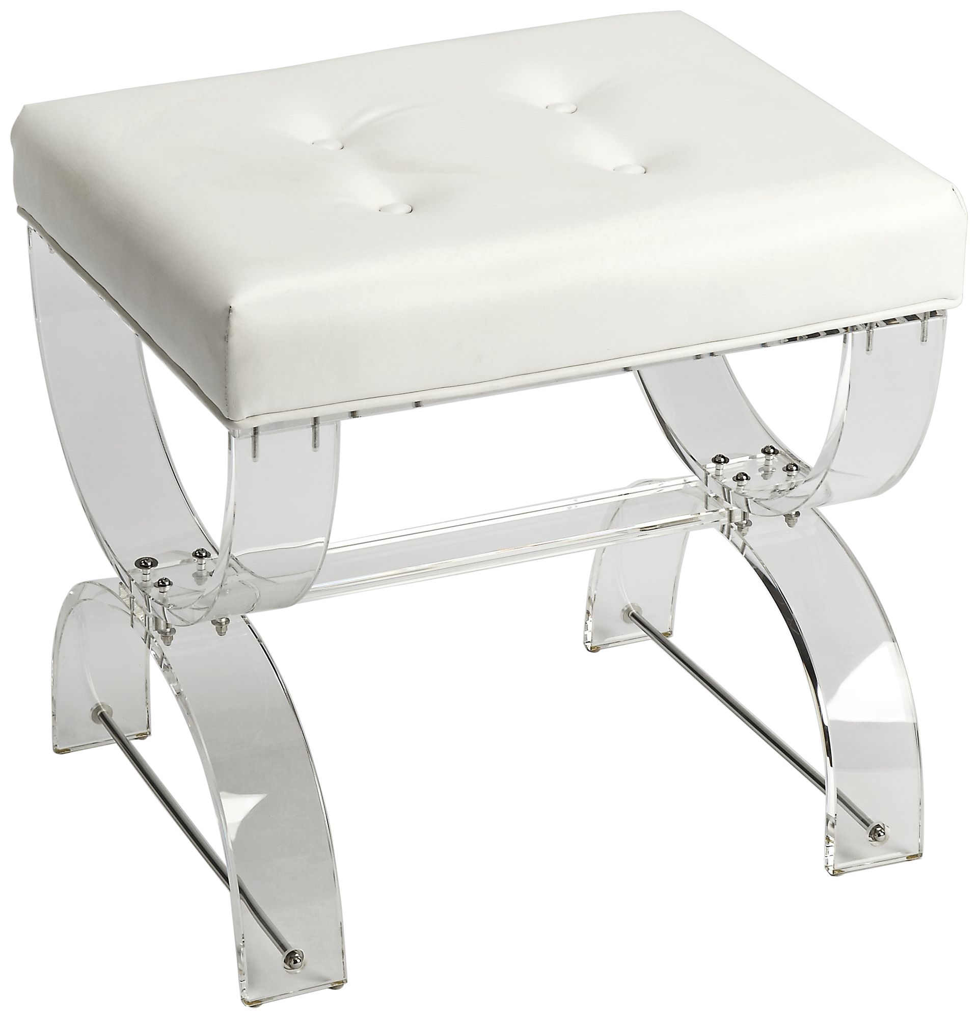 Acrylic Vanity Chair With Wheels By Clear Acrylic Vanity Stool All  Images Butler Morena White And