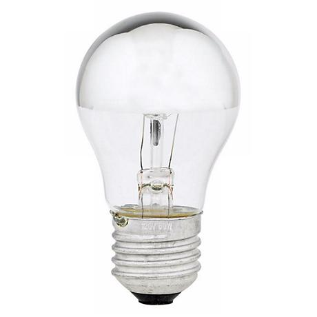 60 Watt Half Chrome Mirrored A15 Light Bulb