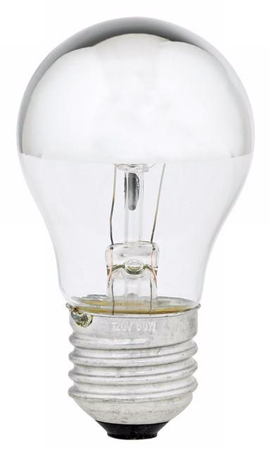 60 watt half chrome mirrored a15 light bulb - A15 Bulb