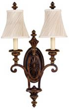 """Feiss Edwardian Collection 24"""" High Two Light Wall Sconce"""