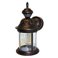 Motion Sensor 12 3 4 High Antique Bronze Outdoor Wall Light