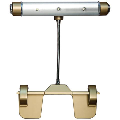 """Rite Lite Gold Finish Battery Powered 10""""W LED Picture Light"""