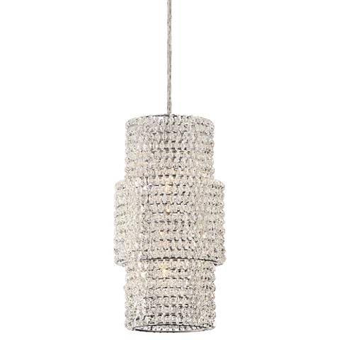 "Eurofase Sposa 6 1/2"" Wide Chrome Crystal Mini Pendant"