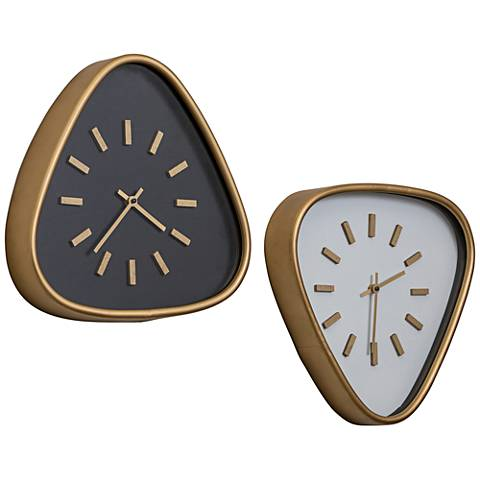 """Cooper Classics Maddie Gold and White 15 1/4""""H Wall Clock"""