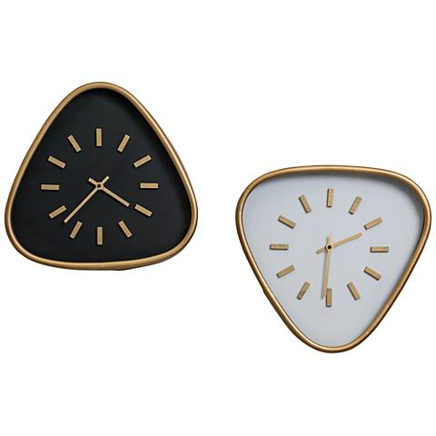 """Cooper Classics Maddie Black and Gold 15 1/4""""H Wall Clock"""