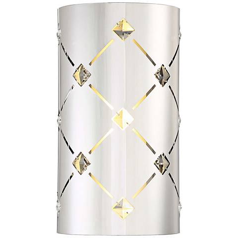 "George Kovacs Crowned 12"" High Chrome LED Wall Sconce"