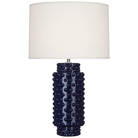 Robert Abbey Dolly Midnight Blue Ceramic Table Lamp