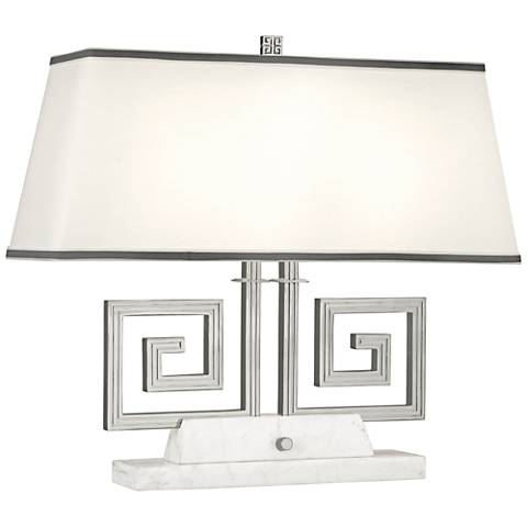 Mykonos Polished Nickel Double Accent Table Lamp