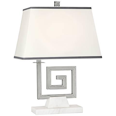 Jonathan Adler Mykonos Polished Nickel Accent Table Lamp