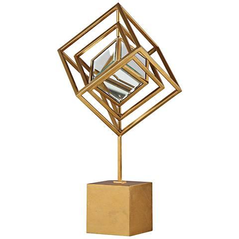 """Uttermost Venya 23 3/4"""" High Metallic Gold Sculpture"""