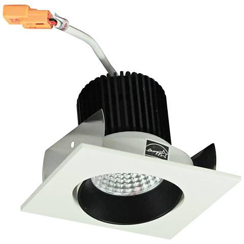 "Nora Lolite 2"" Black and White Square Cone LED Retrofit Trim"