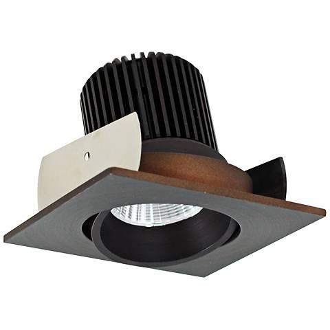 """Lolite 2"""" Bronze Square Adjustable Cone LED Retrofit Trim"""