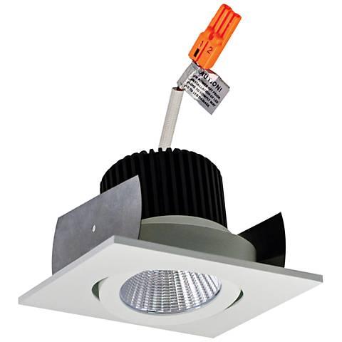 """Lolite 2"""" White Square Adjustable Gimbal LED Retrofit Trim"""