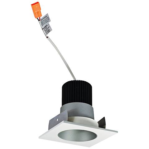 """Lolite 2"""" Haze and White Square Gimbal LED Retrofit Trim"""
