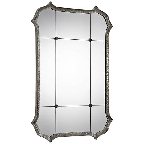 "Lesina Antique Metallic Silver 31 1/4"" x 45 3/4"" Wall Mirror"