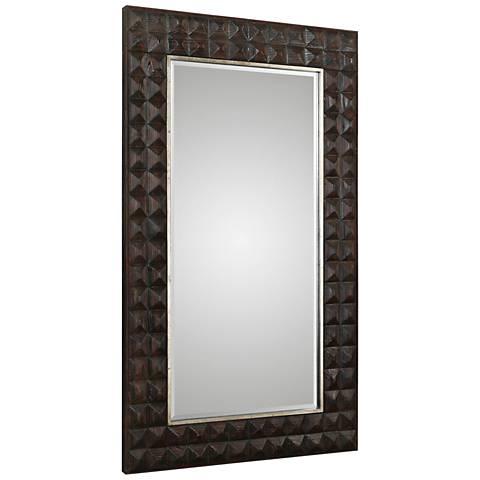 "Aperia Burnt Walnut Stain 44"" x 75"" Oversized Wall Mirror"