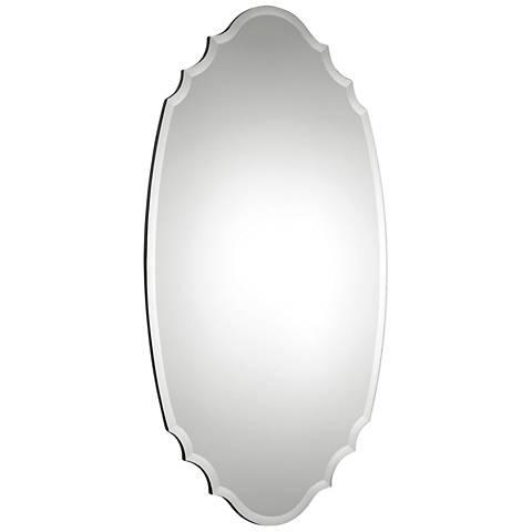 "Ulla Mirrored on Aged Black 28 3/4"" x 54 1/2"" Wall Mirror"