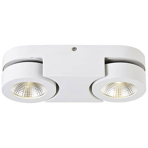"""Eurofase Acura 10 1/2"""" Wide White 2-LED Ceiling Light"""