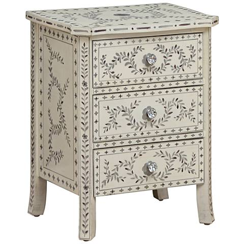 Hobby Hill White 3-Drawer Accent Chest