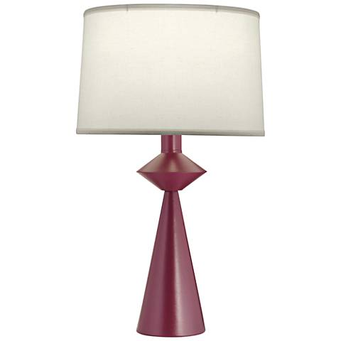 Stiffel Carson Converse Textured Burgundy Table Lamp
