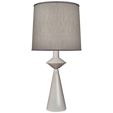 Carson Converse Gloss White Cone Table Lamp w/ Gray Shade