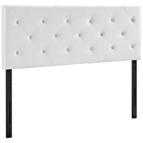Terisa White Vinyl Upholstered Headboard