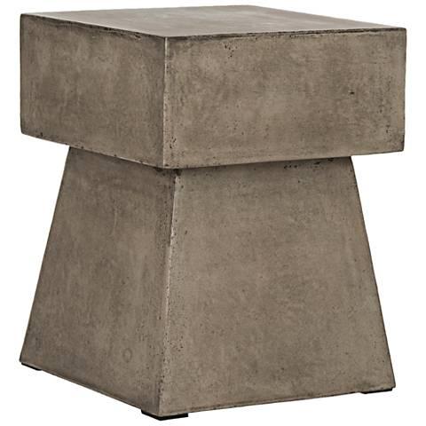 Zen Mushroom Dark Gray Concrete Indoor-Outdoor Accent Table