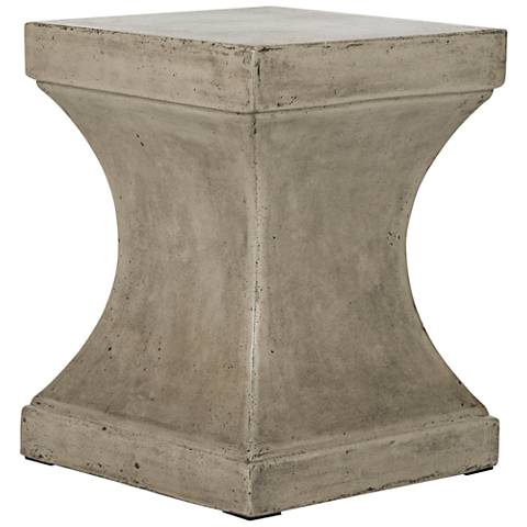 Curby Dark Gray Concrete Indoor-Outdoor Accent Table