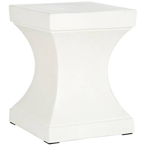 Safavieh Curby Ivory Concrete Indoor-Outdoor Accent Table