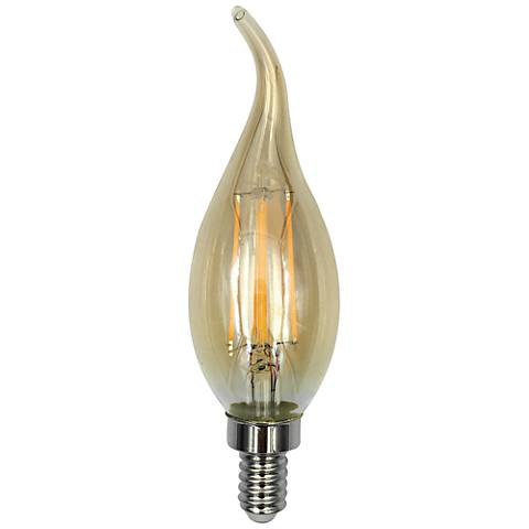 60W Equivalent Amber 6W LED Dimmable Filament Candelabra