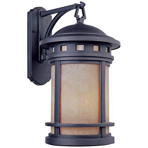 """Sedona 13"""" High Amber Glass Bronze Outdoor Wall Light"""