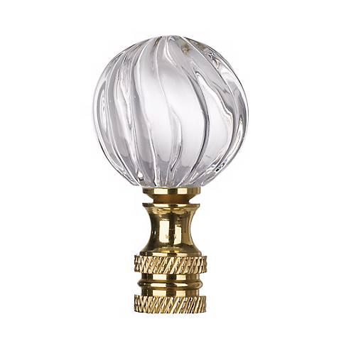 Clear Glass Swirl Lamp Shade Finial