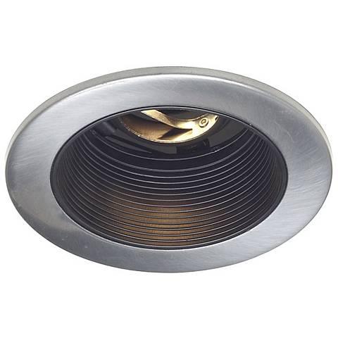 """Juno 4"""" Low Voltage Satin Chrome Recessed Light Trim"""