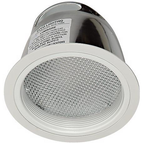 "Elco 7"" CFL White Baffle Regressed Albalite Lens Trim"