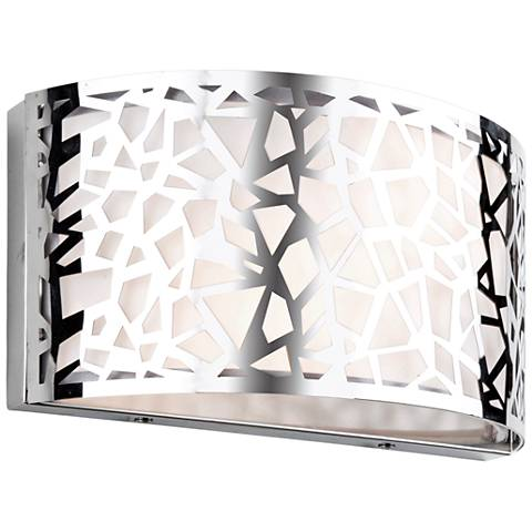 "Artcraft Bayview 6 1/4"" High Chrome and White Wall Sconce"