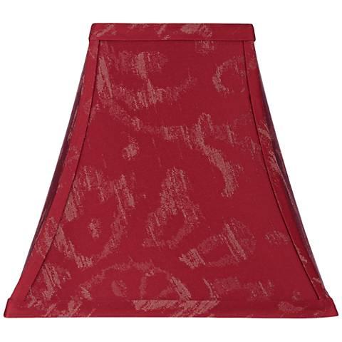 Jiangsu Burgundy Bell Lamp Shade 5/5x10/10x9.5x9 (Spider)