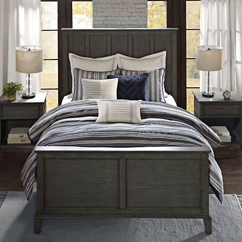 Farmhouse Blue Comforter Set 36a86 Lamps Plus
