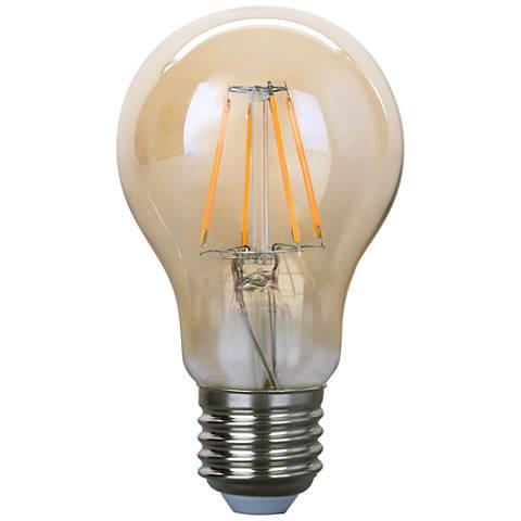 40W Equivalent Amber 8W LED Filament A19 Standard Bulb