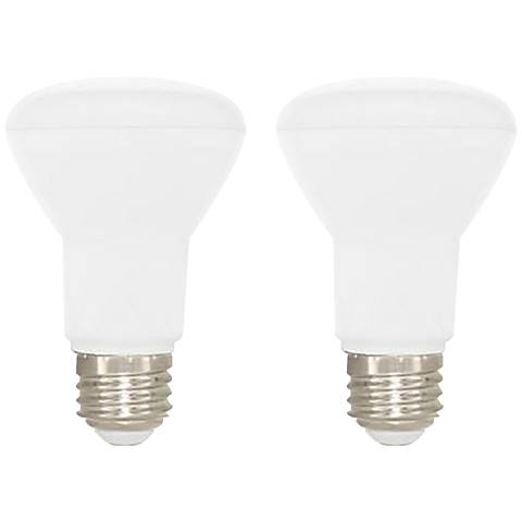 50W Equivalent Frosted 7W LED Dimmable Standard BR20 2-Pack