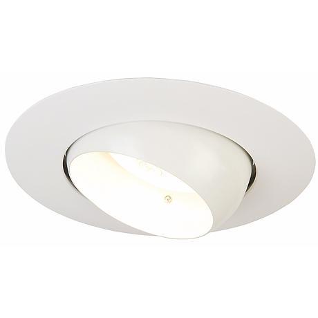 """Luminaire™ 6"""" Line Voltage White Recessed Light"""