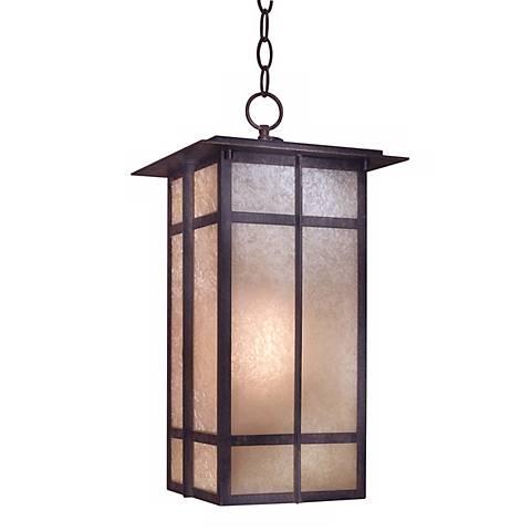 """Delancy Fluorescent 19 1/8"""" High Outdoor Hanging Light"""